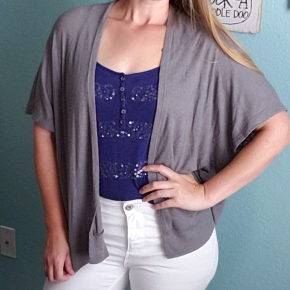 pretty young thing Sweaters - 3 for $30 Gray Open Cardigan